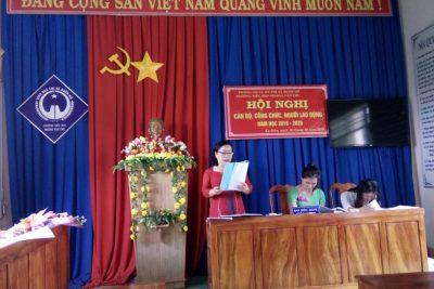 Hội nghị công nhân viên chức được tổ chức thường niên tại trường TH Hoàng Văn Thụ nhằm tổng kết năm học cũ và đề ra phương hướng, nhiệm vụ cho năm học mới.
